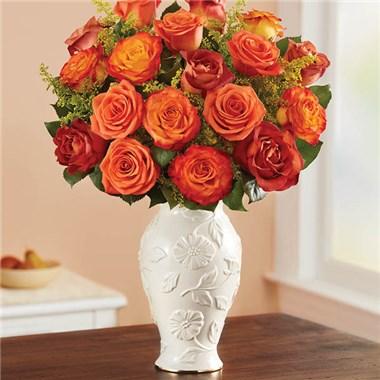1 800 Flowers Autumn Sunset Bouquet In Lenox Vase Super Value
